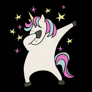 Dabbing unicorn funny womens t shirt dab dance hip hop magic sizes small to 3xl ebay - Unicorn dabbing pictures ...