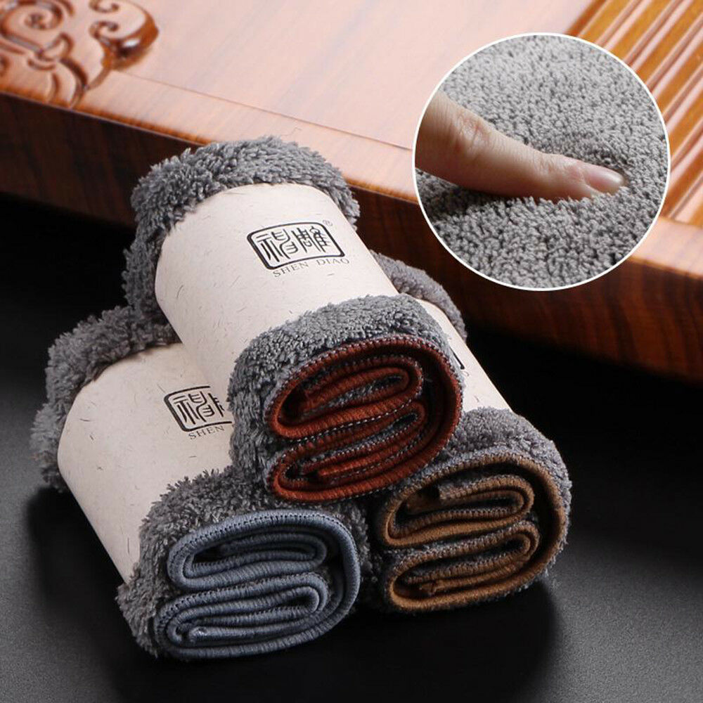 Magical Absorbent Kung Fu Tea Ceremony Cleaning Cotton Fiber Cloth Towel 29x18cm