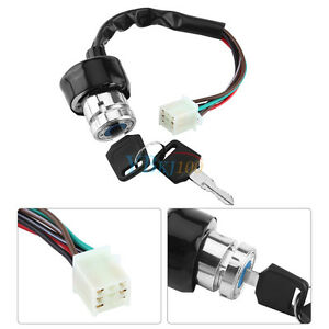 Universal Car Motorcycle 6-Wire in 9 pin plug Ignition Switch 3 ...