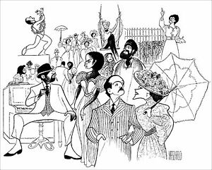 Al-Hirschfeld-039-s-RAGTIME-Hand-Signed-Limited-Edition-Lithograph