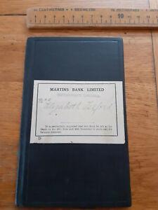 1945 Martins Bank passbook deposit Botchergate Carlisle Elizabeth Telford