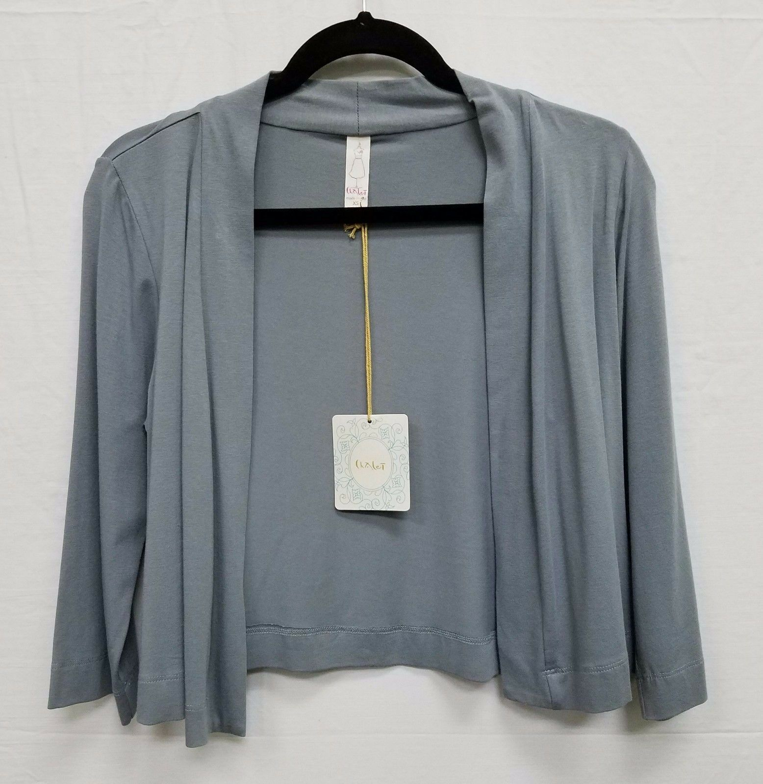 Chalet Simple Jacket Cardigan 3 4 Sleeves Bamboo Cotton Style B55130 NEW