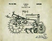 John Deere Tractor Patent Poster Art Print Model B Vintage Toys Freitag Pat321