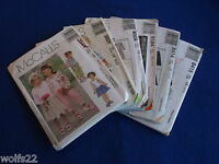 C Mccall's All Patterns Are Size 3-5 (3,4,5) U-pick 16+ Listed 9236 Nip