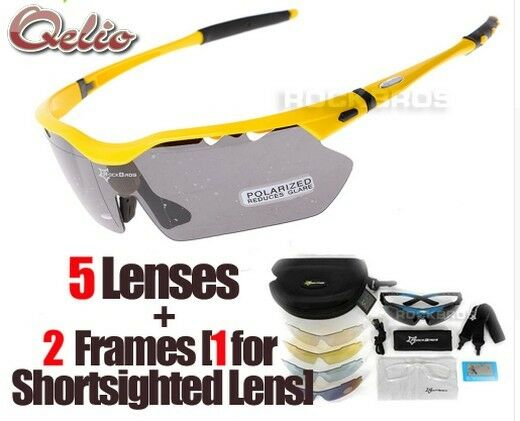 Polarized 5 Lenses Cycling Glasses with Myopia Frame Bike Eyewear Bicycle Glasse