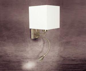 Applique moderno 1 luce in acciaio con paralume coll. gd 0121 1ag ebay