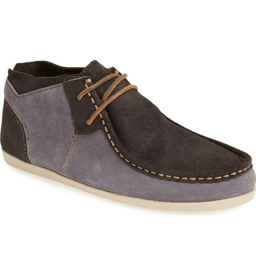 NEW OluKai 9 POKO CHUKKA Boots CASUAL SHOES Loafers Suede  84 Retail Grey bluee