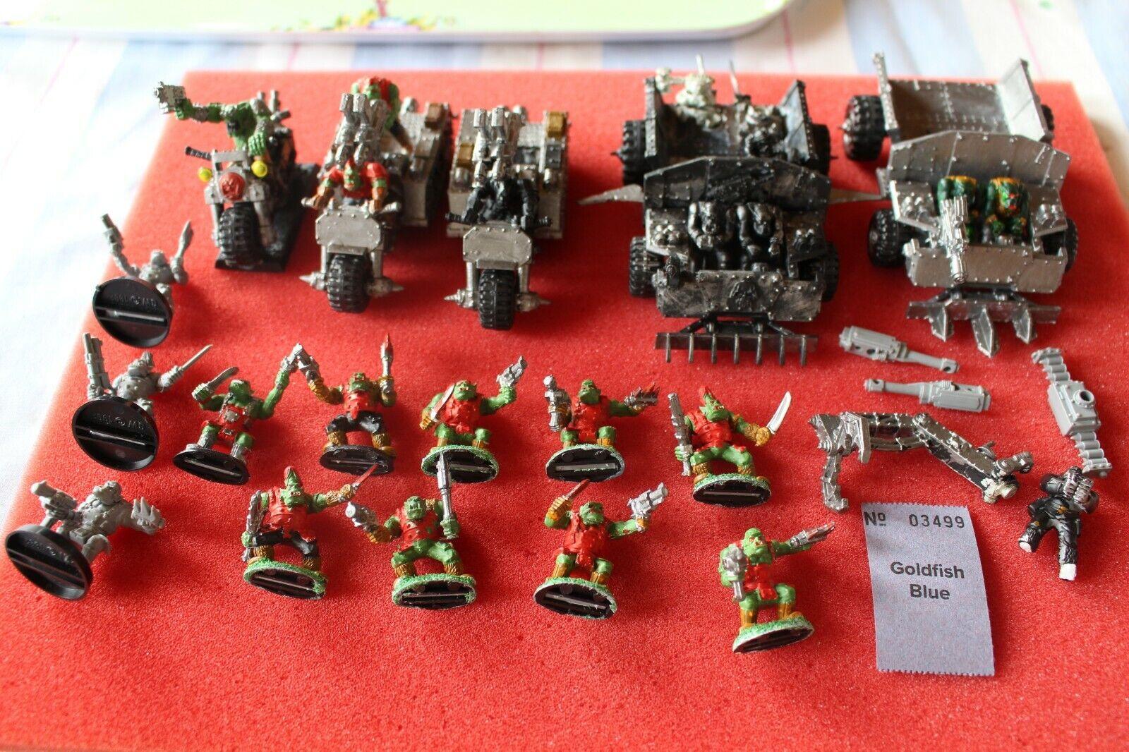giocos lavoronegozio WARHAMMER 40k Orks GORKAMORKA ORK Esercito veicoli trukks LOTTO WH40K