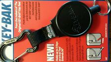 "Key-Bak MID6 (Model #6C) Retractable key holder 36"" Polyester Cord, w/Carabiner"