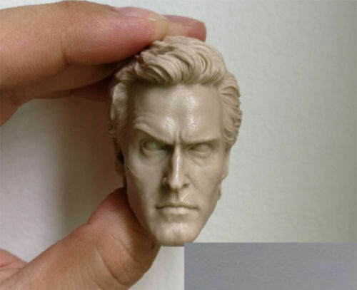 """2Pack of 1//6 Action Figure Male Head Sculpture Model Carved for 12/"""" Body"""