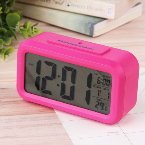 Snooze Electronic Digital Alarm Clock LED Light Control Thermometer new bs