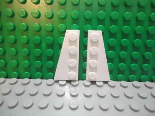 Lego 1 pair of White 4x2 wedge plate wings ship NEW