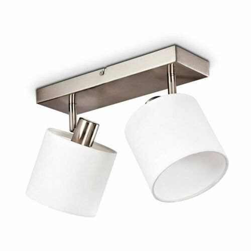 Decken Strahler 2-flammig Flur Küchen Leuchte Wohn Zimmer Lampe verstellbar weiß