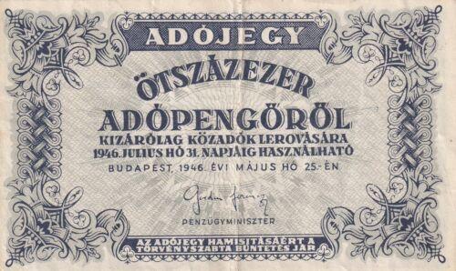 B639 Hungary  500000 Adopengo 1946