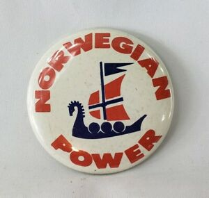 VINTAGE-NORWEGIAN-POWER-BUTTON-PINBACK