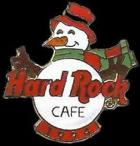 Hard-Rock-Cafe-INTERNATIONAL-1994-CHRISTMAS-PIN-Snowman-Scarf-amp-LOGO-HRC-3456