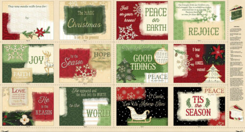 "Christmas Reason For The Season Cotton Fabric Softbook Project Panel 24/""X44/"""