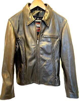 Womens Braided Motorcycle Leather Jacket