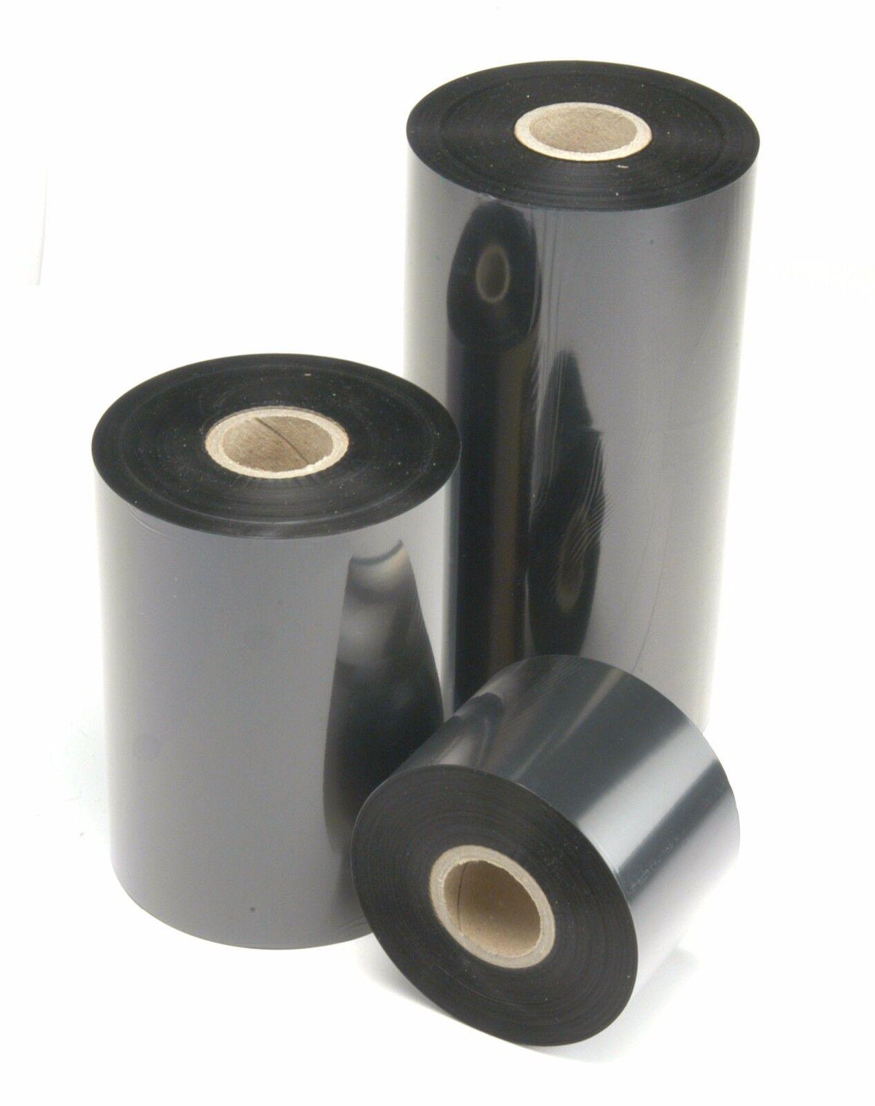 6 Rolls Thermal Transfer Resin Enhanced Wax Ribbon Zebra Printers 4.33  x 1476'