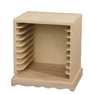 Porta cd da decorare, per decoupage, cm 16x13x17 - in legno   eBay