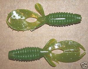 "4/"" Yo Mama Tilapia Bass Plastic Creature Bait 50 count bag Bulk Worms Trailer"