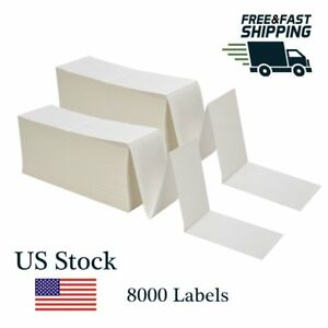 """Barcode Labels Zebra Shipping 4000 Fanfold 4/"""" x 6/"""" Direct Thermal Labels"""