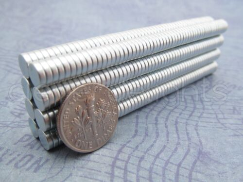 "1//4/"" x 1//16/"" N35 Disc Magnets Crafts Strong 6mm x 1.5mm 50 Neodymium Magnets"