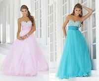 New Bridesmaid Wedding Gown Prom Ball Evening Dress Size 6 8 10 12 14 16
