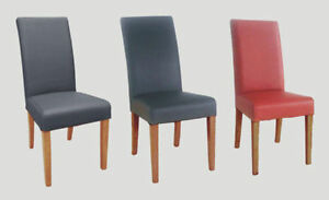 Dining Chairs High back TOP GRAIN LEATHER Brown Black or ...