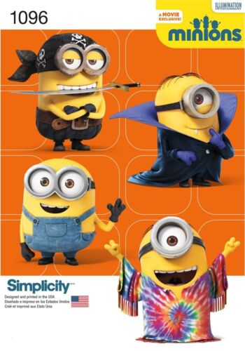 SIMPLICITY 1096 Despicable Me MINIONS Child\'s Costume Sewing Pattern ...
