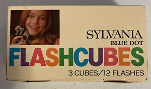 Sylvania Blue Dot Flash Cubes 3 cubes / 12 flashes