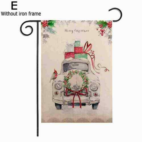 Details about  /Christmas Red Truck Winter Garden Flag Banner Xmas Decor Quality High B0M6