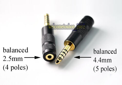 4.4mm Balance Male to 2.5mm Balance Female Converter adapter For Sony NW-WM1Z//A