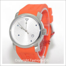 SWISS LEGEND MENS PLANETIMER DATE ORANGE SILICONE STRAP WATCH SL-20028-02S-ORG