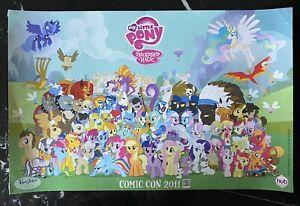 2011 Exclusive Comic-Con Poster Twilight Sparkle Rainbow Dash Funko Hasbro Toy