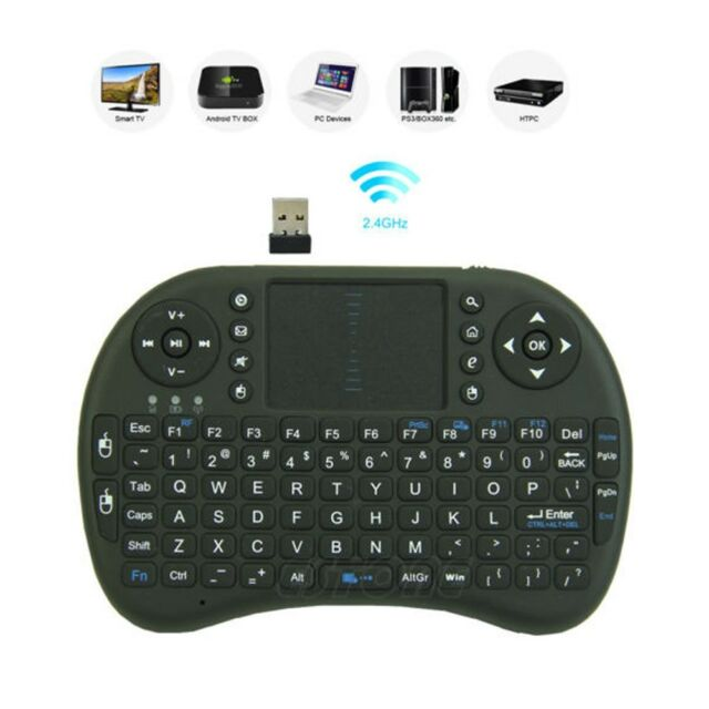 2.4G Wireless Air Keyboard Mouse Qwerty Remote Touchpad Android TV BOX PC