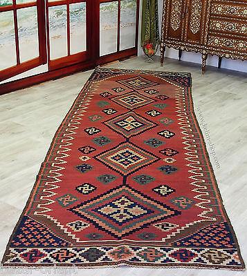 382x118 cm antik orient Teppich kaukasische Nomaden kelim kilim No:330