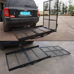 Wheelchair Trailer Carrier Scooter Mobility Carrier Loading Ramp Hitch Mount New Ebay