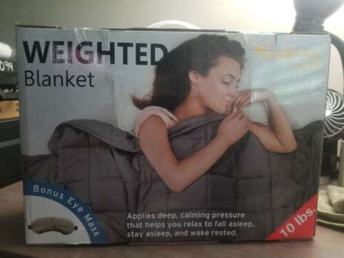 Sedona House 10Lb Weighted Blanket and Eye Mask for Adults