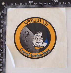 VINTAGE-NASA-APOLLO-XII-CONRAD-GORDON-BEAN-SOUVENIR-PATCH-WOVEN-CLOTH-BADGE