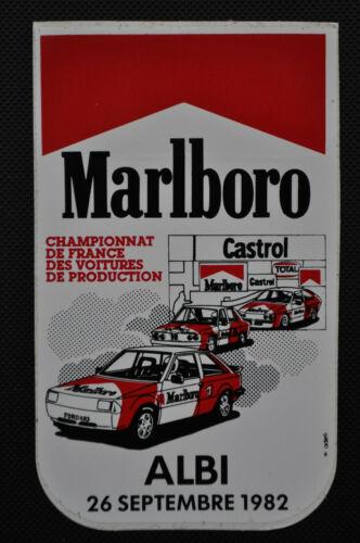 Sticker Marlboro Grand Prix d/'Albi 1982 Championnat de France Production