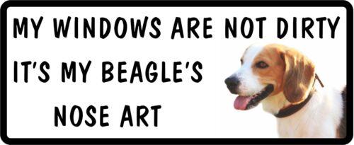 Mes fenêtres ne sont pas sales mes Beagle/'S NOSE ART Marrant Car Dog Sticker