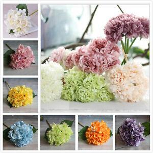 Peony Silk Flowers Bridal Bouquet Hydrangea Decor Flower Party ...