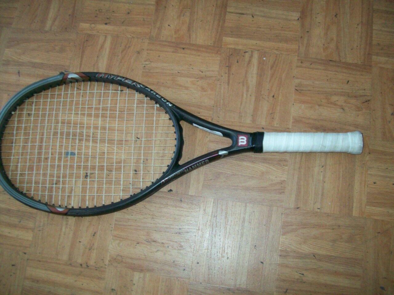 Wilson Hyper Hyper Hyper Hammer 2.3 Carbon OS 110 headsize 4 1/8 Tennis Racquet 97a687