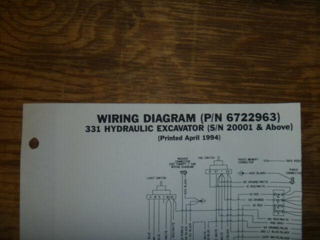 Bobcat 331 Hydraulic Excavator Electrical Wiring Diagram