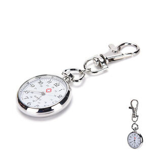 Stainless-Steel-Quartz-Pocket-Watch-Cute-Key-Ring-Chain-Gift-xk