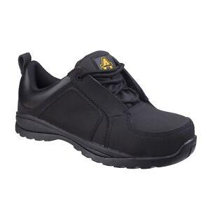 Amblers-fs59c-Ladies-Negro-Resistente-Al-Calor-no-metalicos-de-calzado-de-seguridad