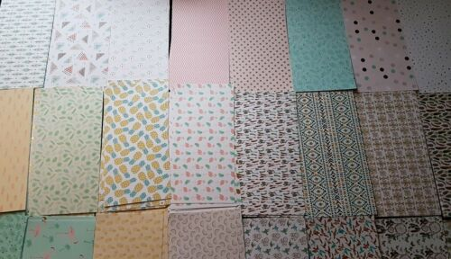 10 Sheets Craft Paper Pack 15cm  X 30cm