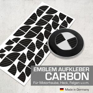 Carbon Schwarz Emblem Aufkleber Ecken für BMW F26 X4, F30 3er, F31 3er, F32 4er