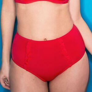 fc04c47187 Pour Moi Getaway Control High Waist Bikini Brief - Red- (80003) | eBay